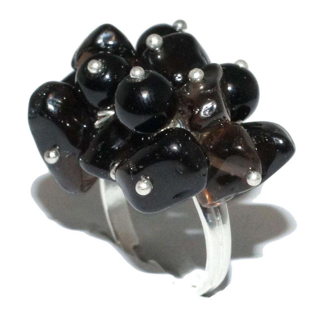 bague quartz fum mosa que femme bagues bagues en acier. Black Bedroom Furniture Sets. Home Design Ideas