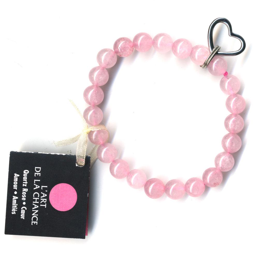 cbadc093f5 Bracelet Art de la chance en Quartz rose