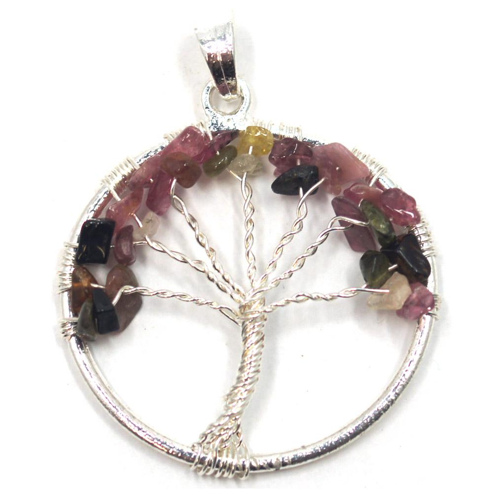 Pendentif-tourmaline-multicolor-arbre-de-vie