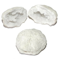 Paire de géode (druse) en cristal de roche de 3 à 8 cm