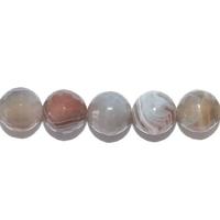 Perle en Agate botswana facettée boule 8 mm