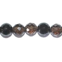 Perle en Quartz fumé facettée boule 8 mm