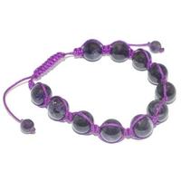 Bracelet Shamballa Améthyste 10 mm