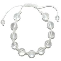 Bracelet Shamballa Cristal de roche 10 mm
