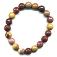 Bracelet en mokaite boules 10mm