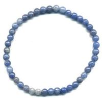 Bracelet Quartz bleu boule 4 mm