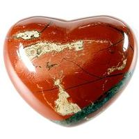Coeur en Jaspe rouge de 45 mm