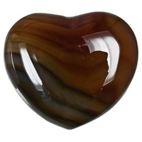 Coeur en Cornaline de 45 mm
