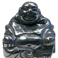 Bouddha Rieur Assis 4 cm en Hématite - Porte bonheur