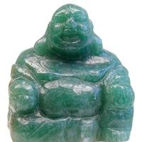 Bouddha Rieur Assis 4 cm en Aventurine - Porte bonheur