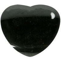 Coeur en Tourmaline noire de 45 mm