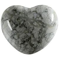 Coeur en Howlite de 45 mm