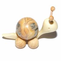Boule de massage 2 cm en Agate crazy lace support escargot