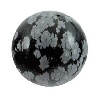 Boule de massage en Obsidienne neige de 2 cm