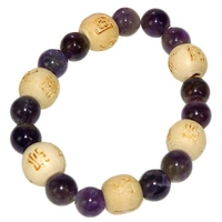 Bracelet Perles de karma Kids en Améthyste