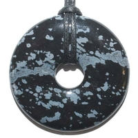 Pi-chinois Obsidienne neige 40mm