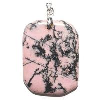 Rhodonite pierre plate en Pendentif
