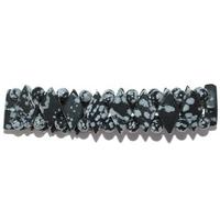 Bracelet losange en Obsidienne neige