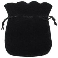 Pochette en velours noir 12x10cm