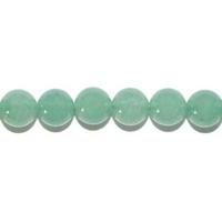 Perle en Aventurine verte boule 6 mm - Lot de 10 pièces