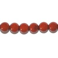 Perle en Jaspe rouge boule 6 mm