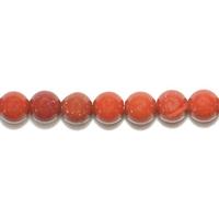 Perle en Jaspe rouge boule 4 mm - Lot de 10 pièces