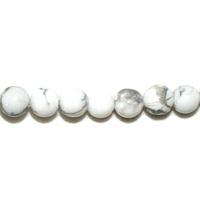 Perle en Howlite boule 4 mm