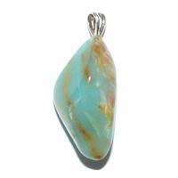 Pendentif Opale des Andes Bleue Extra bélière argent