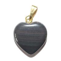 Pendentif Obsidienne Oeil Céleste 15mm en Petit Coeur