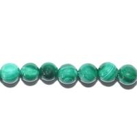 Perle en Malachite boule 4 mm - Lot de 10 pièces