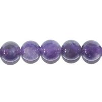 Perle en Améthyste boule 8 mm - Lot de 10 pièces