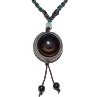 Agate cyclope 25mm en amulette avec cordon