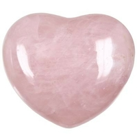 Quartz rose en forme de coeur 45x40mm