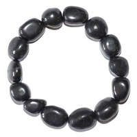 Bracelet pierres roulées en Shungite