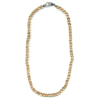 Collier Citrine naturelle boules 6 mm