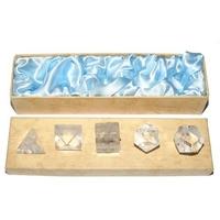 5 Solides de platon en cristal de roche