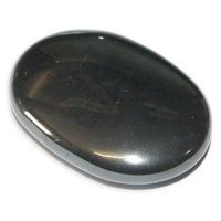 Galet Hématite pierre plate XL