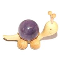 Boule de massage 2 cm en Améthyste support escargot
