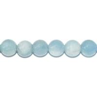 Perle en Aigue marine boule 6 mm Extra - Lot de 10 pièces