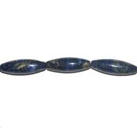 Perle en Lapis lazuli grain de riz 30x10 mm