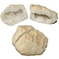 Paire de géode (druse) en cristal de roche de 12 à 15 cm