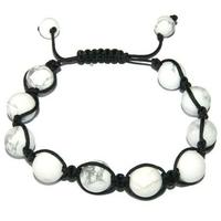 Bracelet Shamballa Howlite 8 mm
