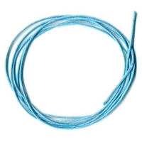 Cordon coton ciré Bleu turquoise