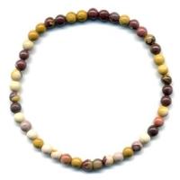 Bracelet en Mokaite boules 4mm