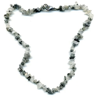 Collier Quartz tourmaline 45 cm baroque
