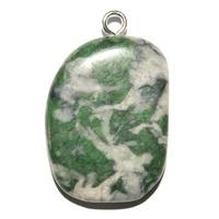 Smaragdite pierre plate en Pendentif