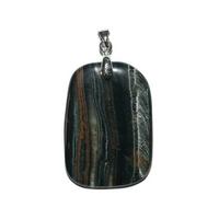 Oeil de Faucon pierre plate mini en Pendentif