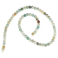 Perle en Amazonite multicolor boule 6 mm - Lot de 10 pièces