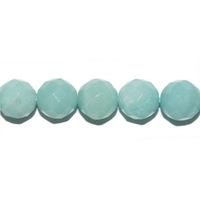 Perle en Amazonite facettée boule 8 mm