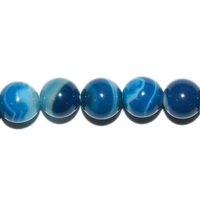 Perle en Agate bleue boule 8 mm - Lot de 10pcs